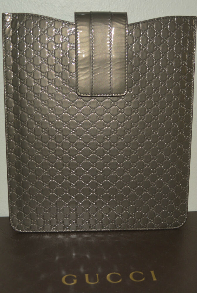 de7c768dd08 Details about NIB GUCCI METALLIC GUCCISSIMA LEATHER iPAD 2 CASE CARRIER  SLEEVE MADE IN ITALY