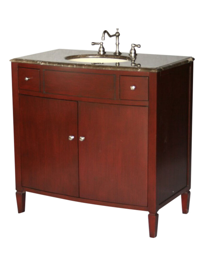 Ebay Bathroom Vanity With Sink: 36-Inch Contemporary Style Single Sink Bathroom Vanity