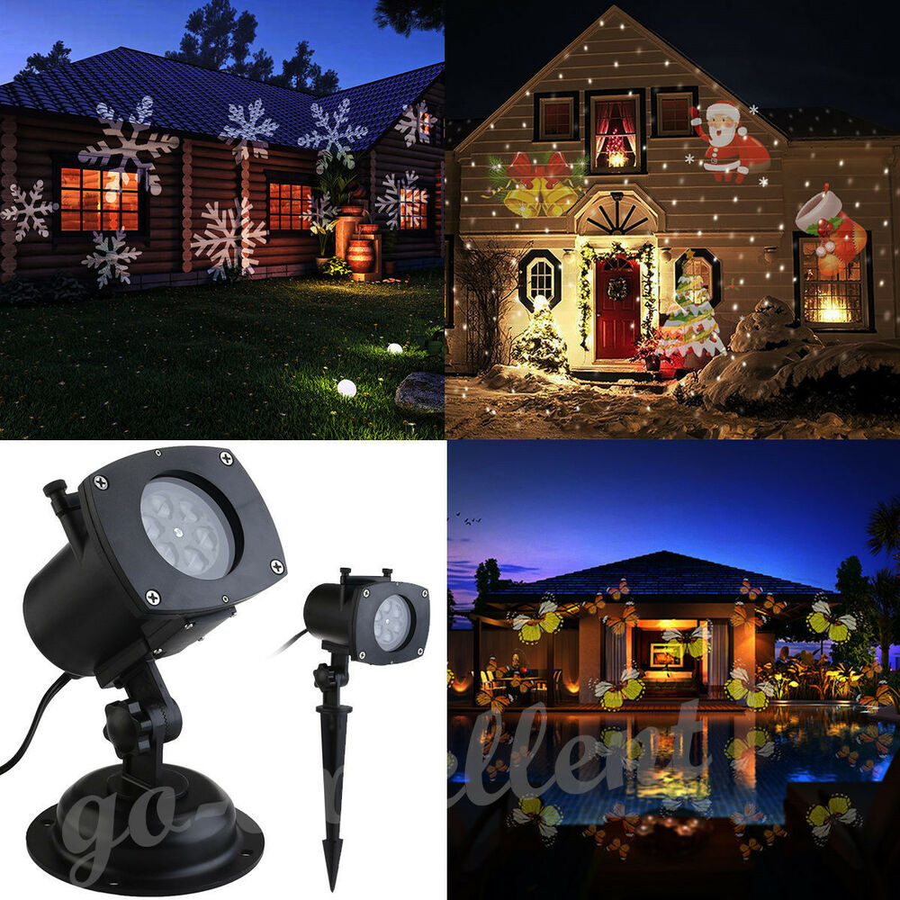 Moving led laser star snowflake christmas light shower for Christmas star outdoor lights decorations