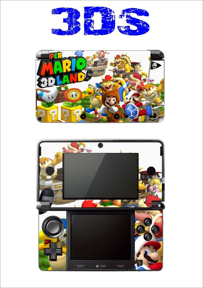 haut sticker aufkleber deko f r nintendo 3ds ref 177 super mario land 3d ebay. Black Bedroom Furniture Sets. Home Design Ideas
