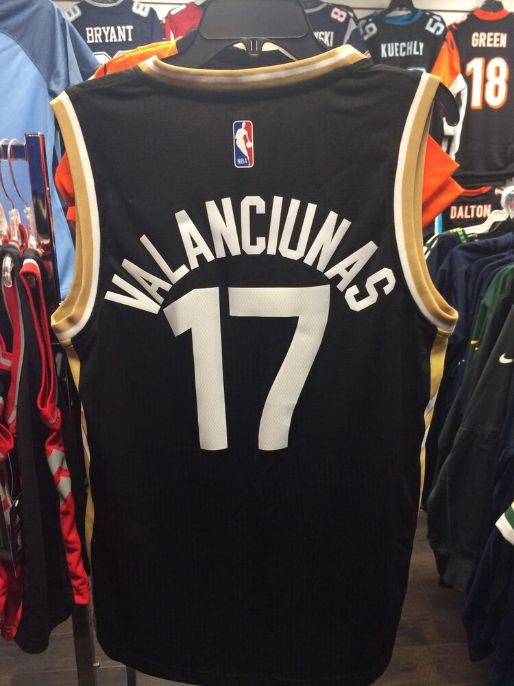 4fb28bb9866c NBA Toronto Raptors Jonas Valanciunas Adidas Jersey Black Gold Alternate XXL