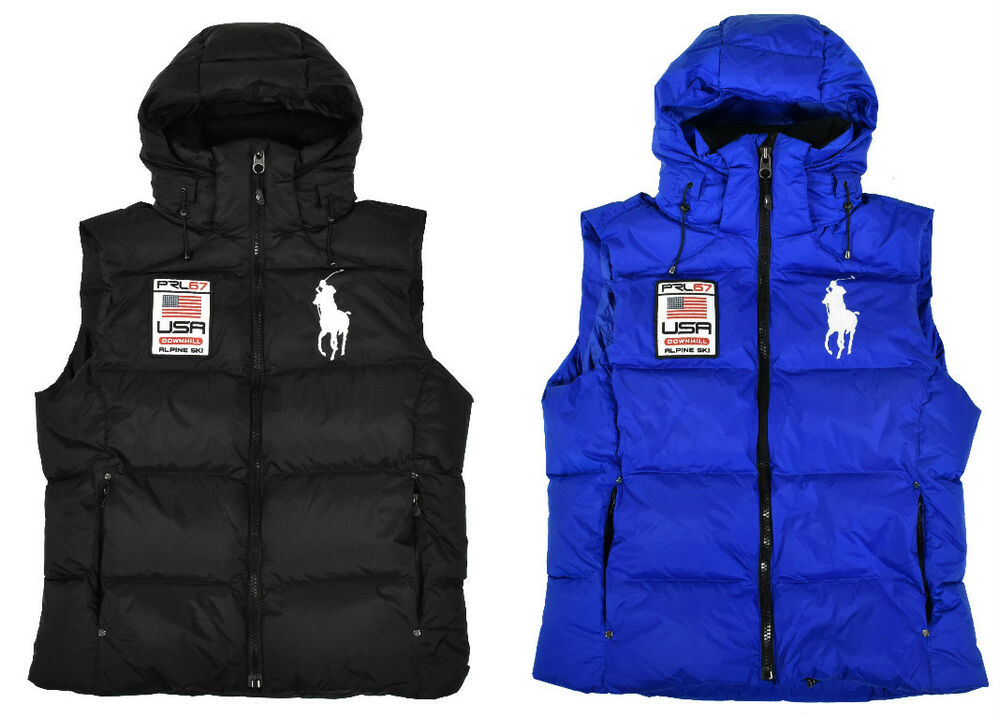 Ralph Lauren Polo Big Pony Usa Down Puffer Vest Jacket New