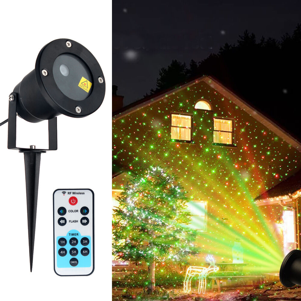 Christmas MOTION Star Light Laser LED Projector Outdoor