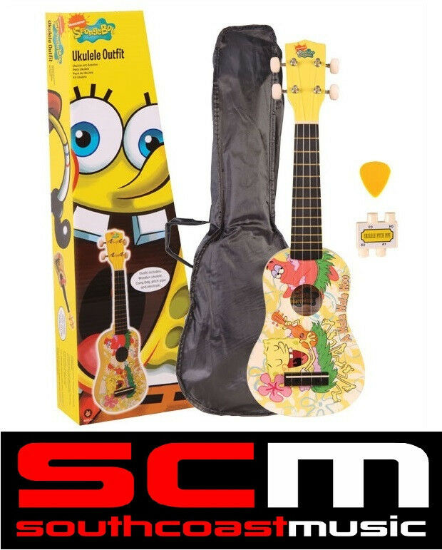NEW IN BOX SPONGEBOB SQUAREPANTS UKULELE PACK + SPONGE BOB UKE ACCESSORIES! : eBay