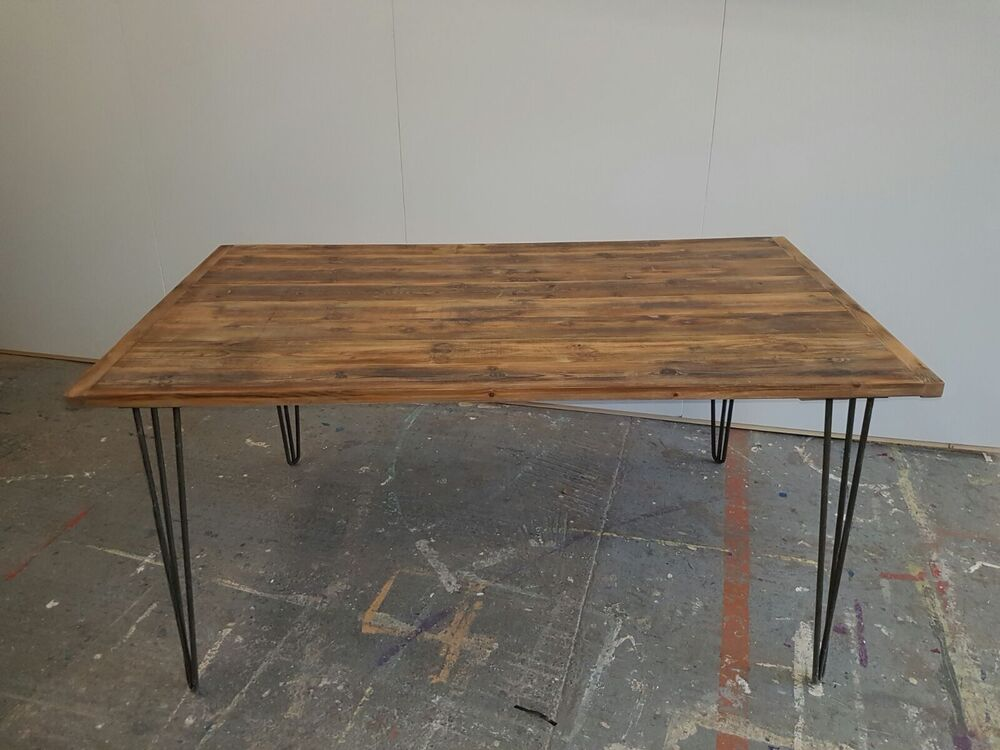 Reclaimed Wood Dining Table Victorian 30mm Tongue And Groove Shop Bar Fit