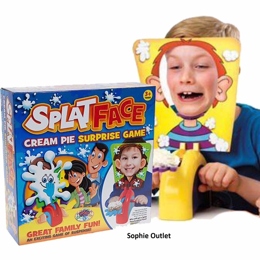 New SPLAT FACE Cream Pie GAME Kids Toy Birthday Christmas