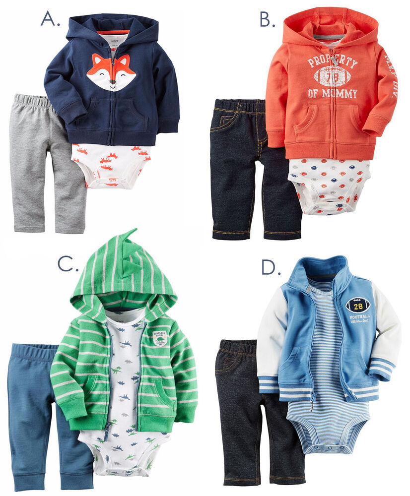 Carters Baby Boy 3pc Outfit Set Winter Clothes Newborn 3 6 ...
