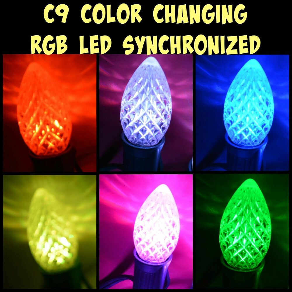 led c9 light bulb christmas new synchronized color changing no controller needed ebay. Black Bedroom Furniture Sets. Home Design Ideas