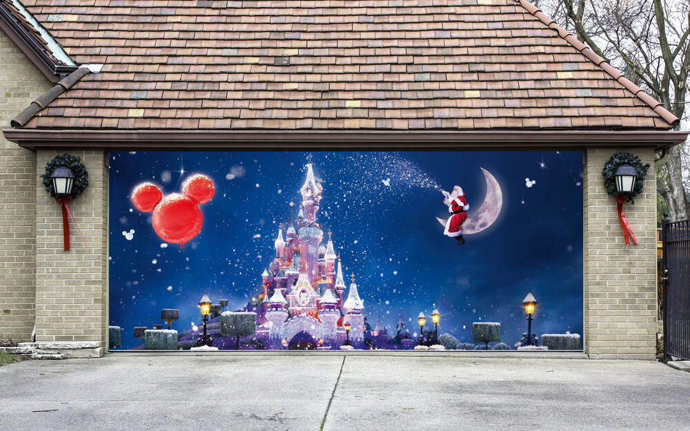 Christmas garage door covers 3d banners outside house for Christmas garage door mural