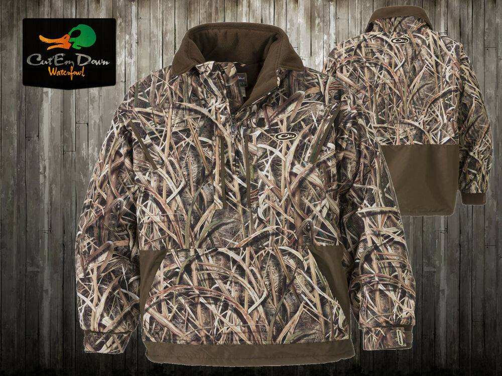DRAKE WATERFOWL MST FLEECE LINED PULLOVER JACKET 2.0 SHADOWGRASS ...