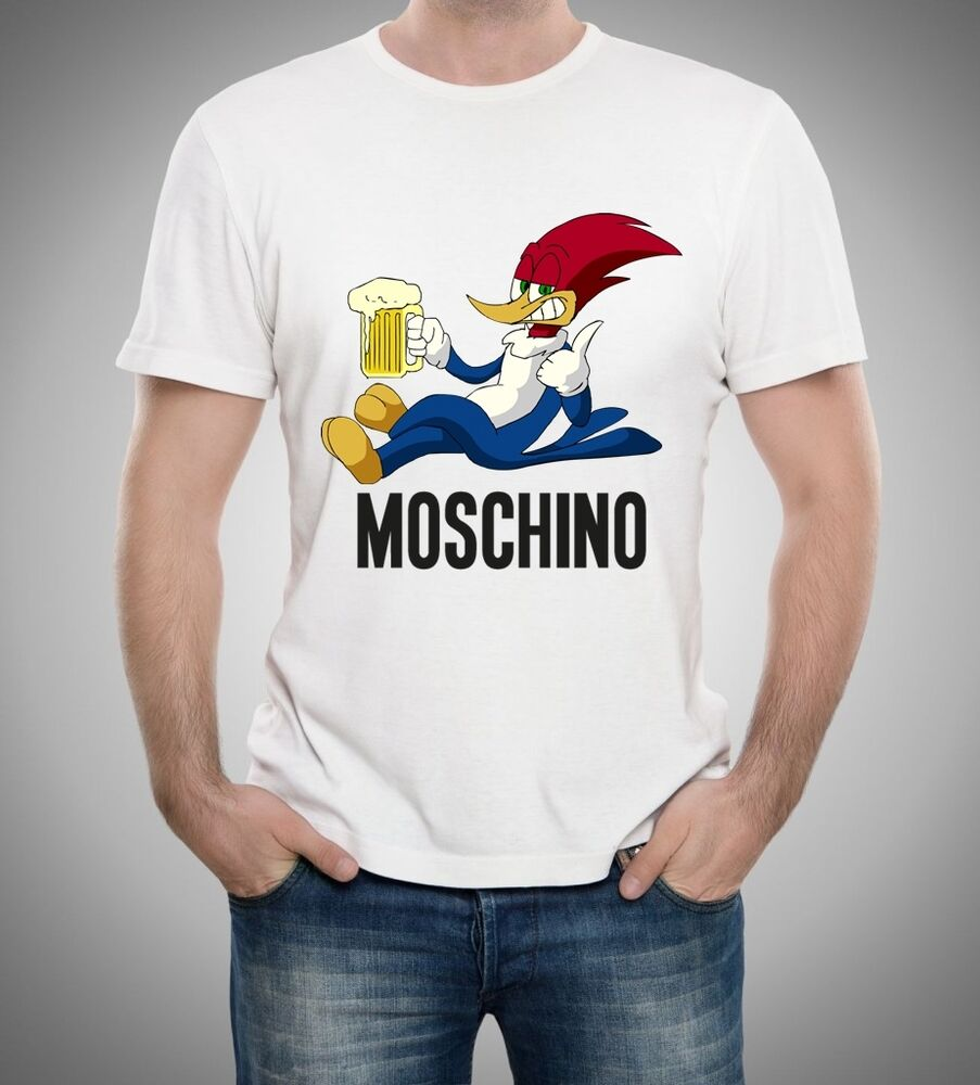 white men t shirt woody moschino sale 23 ebay. Black Bedroom Furniture Sets. Home Design Ideas