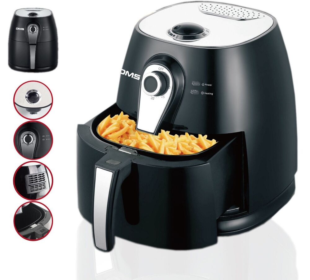 air fryer heissluft ofen fritteuse fettfrei 1400 watt 3 liter friteuse dms ebay. Black Bedroom Furniture Sets. Home Design Ideas