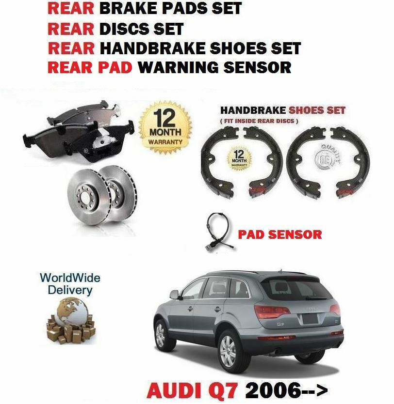 Audi Q7 Brakes: FOR AUDI Q7 4L 2006- REAR BRAKE DISCS SET + DISC PADS