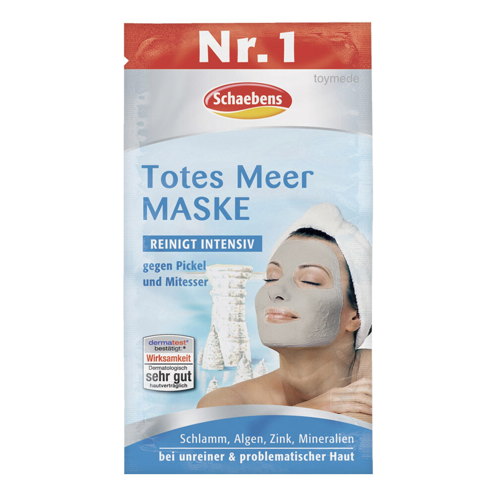 schaebens totes meer gesichtsmaske gegen pickel mitesser 15ml dead sea mask ebay. Black Bedroom Furniture Sets. Home Design Ideas