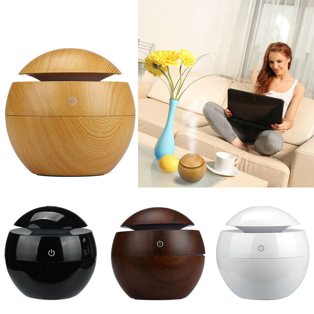 Home Car Led Aroma Ultrasonic Humidifier Usb Essential Oil