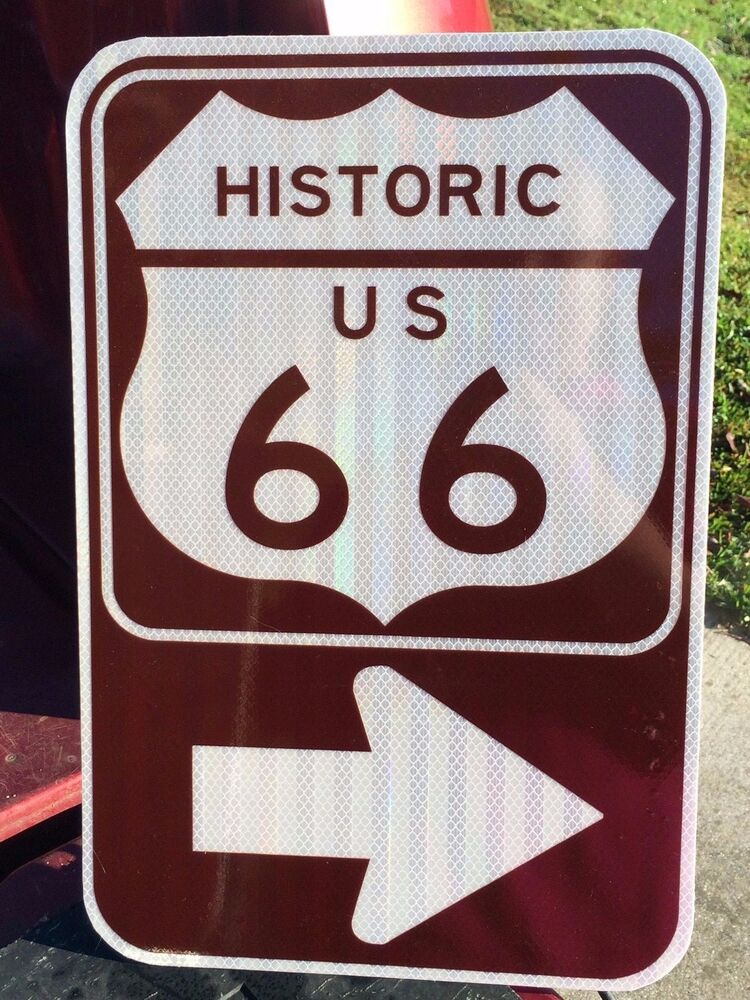 66 18 Adults Only 2017: Route 66 Road Sign