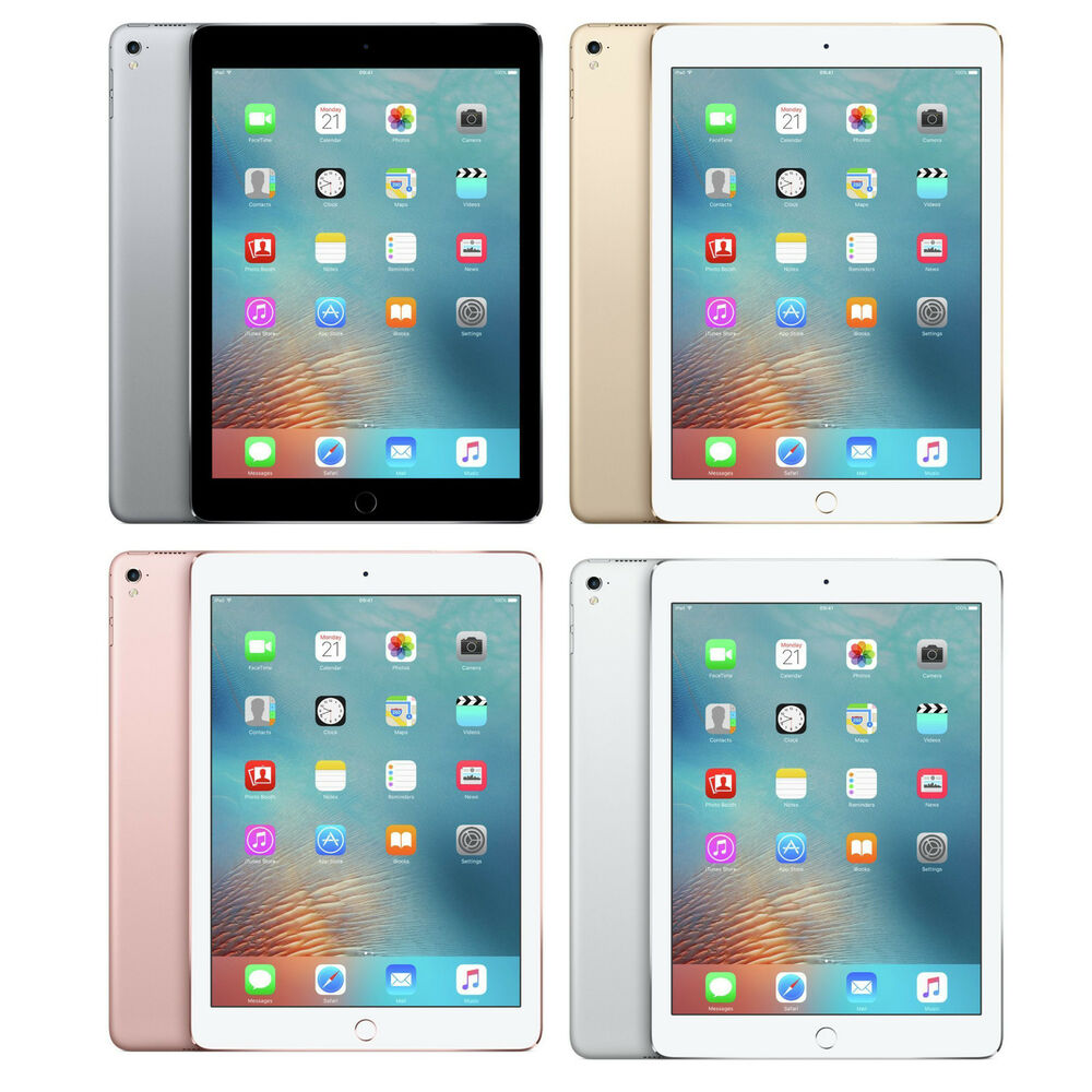 apple ipad pro 9 7 inch 32gb 128gb 256gb wi fi tablet gold pink silver grey ebay. Black Bedroom Furniture Sets. Home Design Ideas