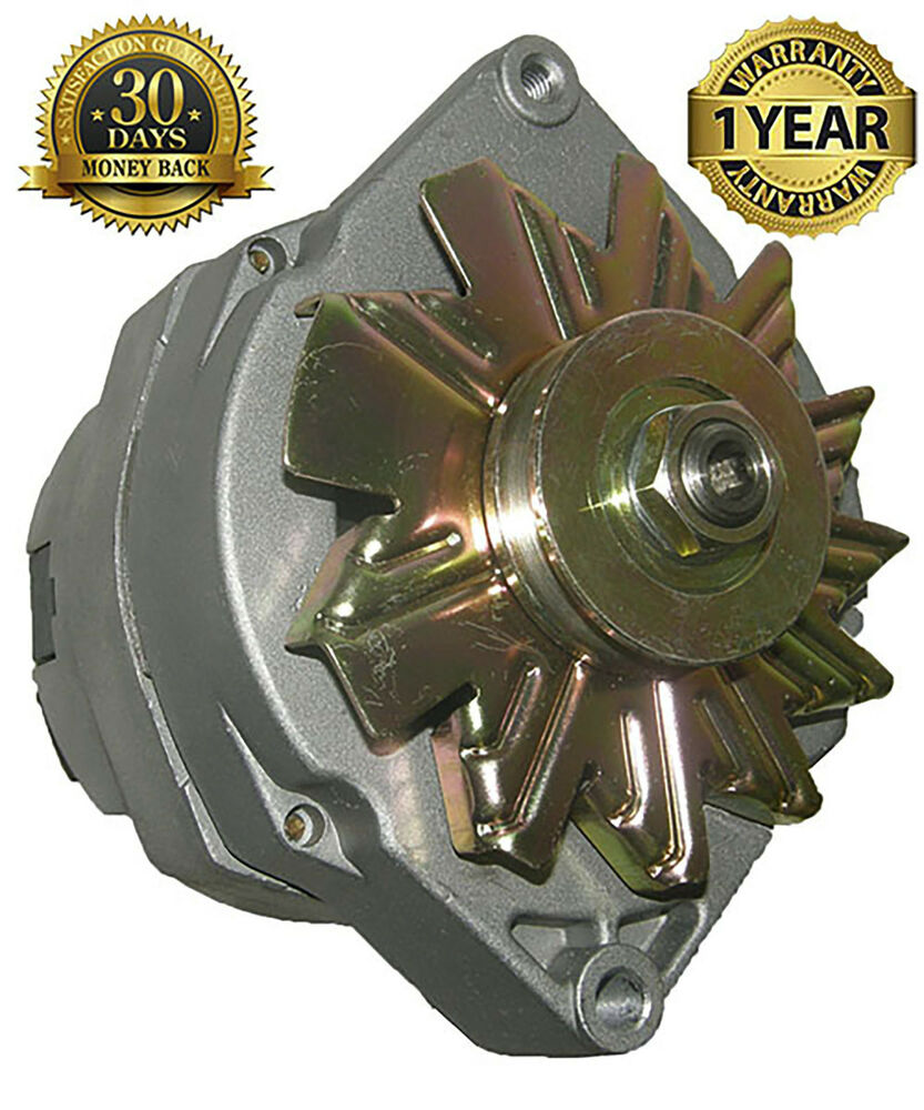 New 105a Alternator 10si Hi Output Chevrolet 1 Wire Delco Self Wiring Diagram For 1986 P30 Chevy Step Van Free Exciting 7127d Ebay