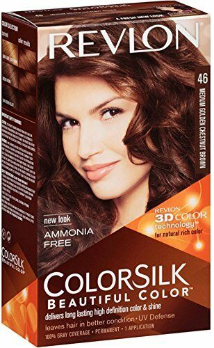 3 Pack Revlon Colorsilk Beautiful Hair Color 46 Medium Golden