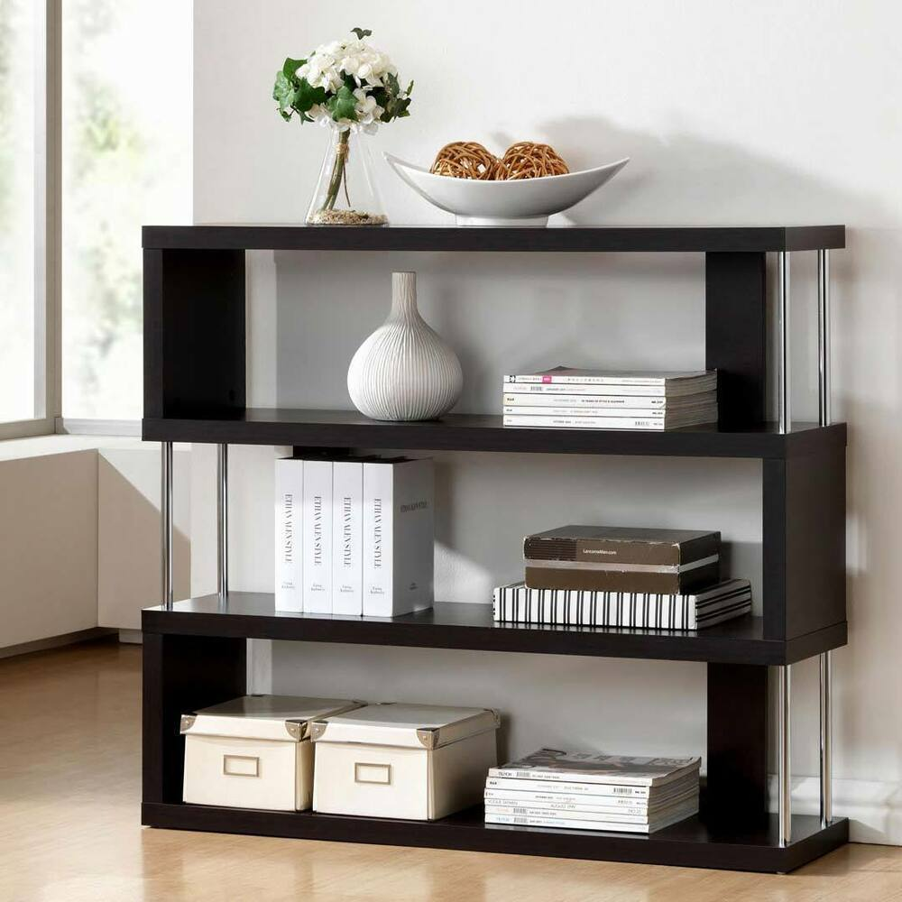 Modern shelf by baxton studio ebay for Contemporary display shelves