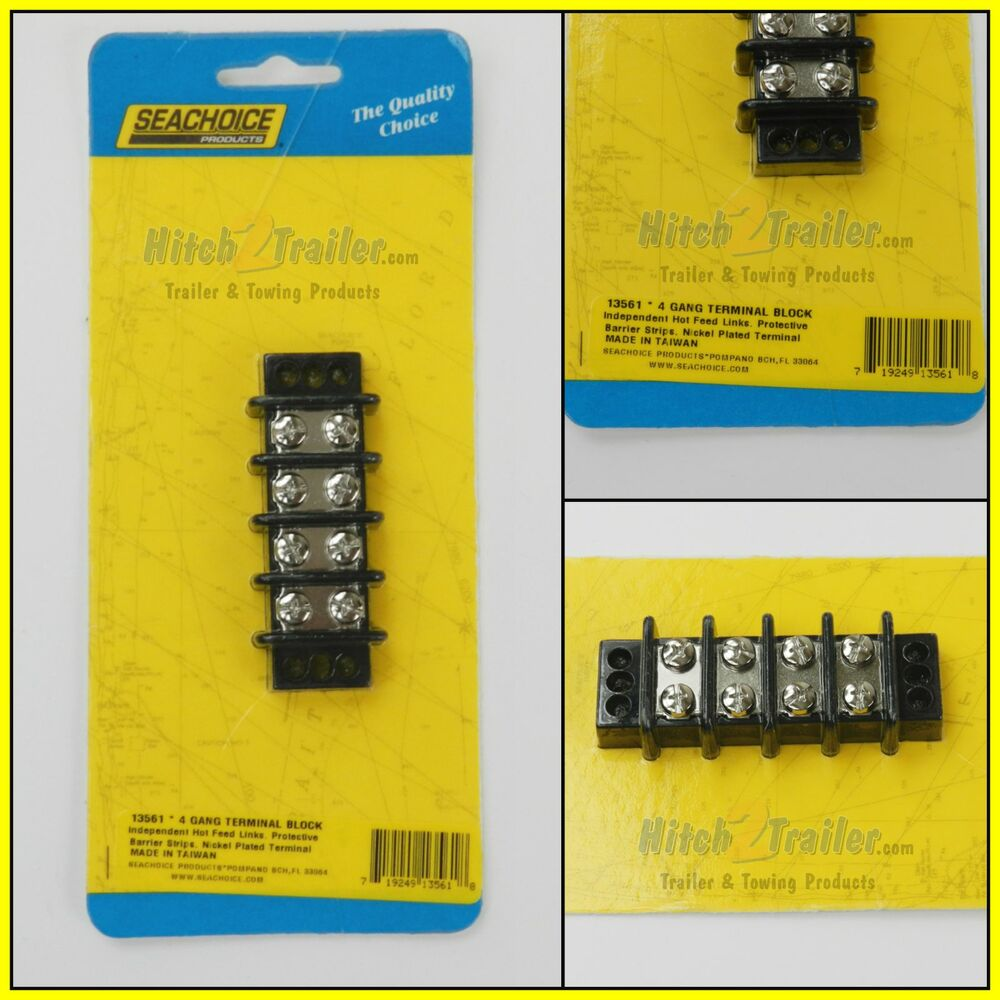 Awesome Marine Boat 4 Gang Nickel Electric Screw Terminal Junction Block Wiring Digital Resources Cettecompassionincorg