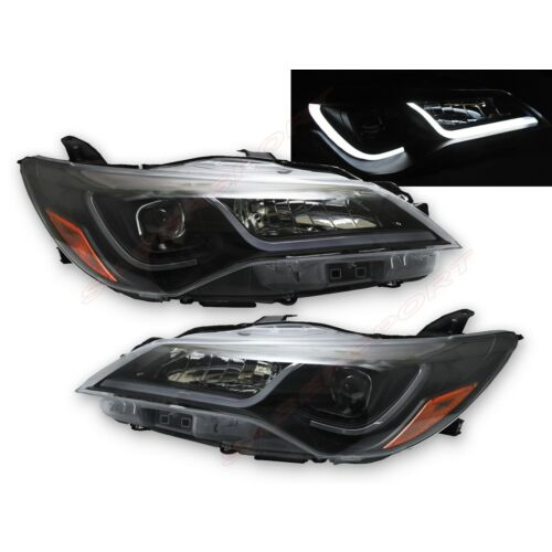 set-of-pair-black-headlights-w-led-tube-bar-for-20152016-toyota-camry-le-se