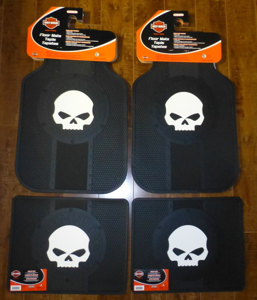 Harley Davidson Willie G Skull Front And Rear Car Truck