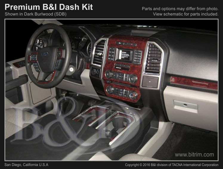 Ford F150 Wood Dash Kit Fits 2015 2017 With Bucket Seats