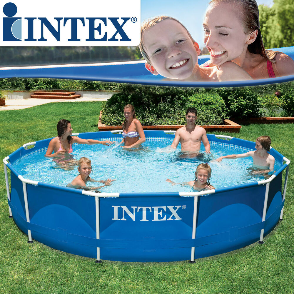 Intex 366x76 swimming pool frame stahlwandbecken for Schwimmbecken stahlwand set