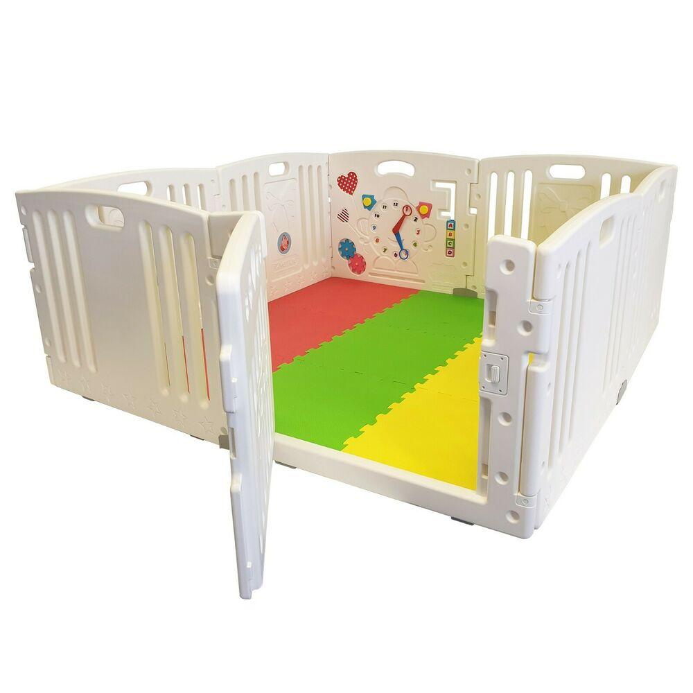 all stars baby playpen fun activity panel 8pc 39 s non toxic ForValla Infantil Carrefour