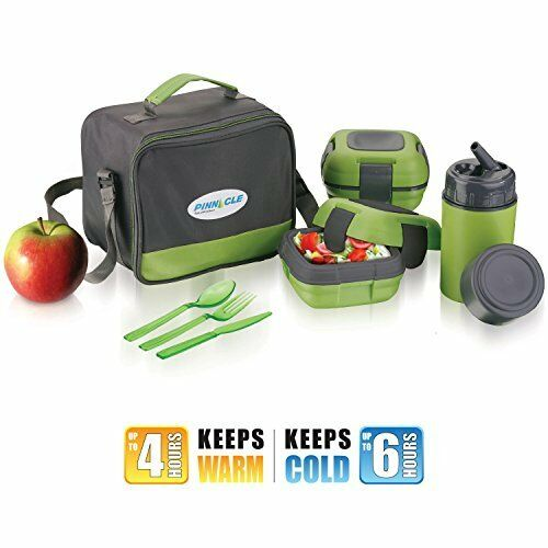 lunch box bag set for adults kids pinnacle insulated leakproof thermo eat hot 881314391752 ebay. Black Bedroom Furniture Sets. Home Design Ideas