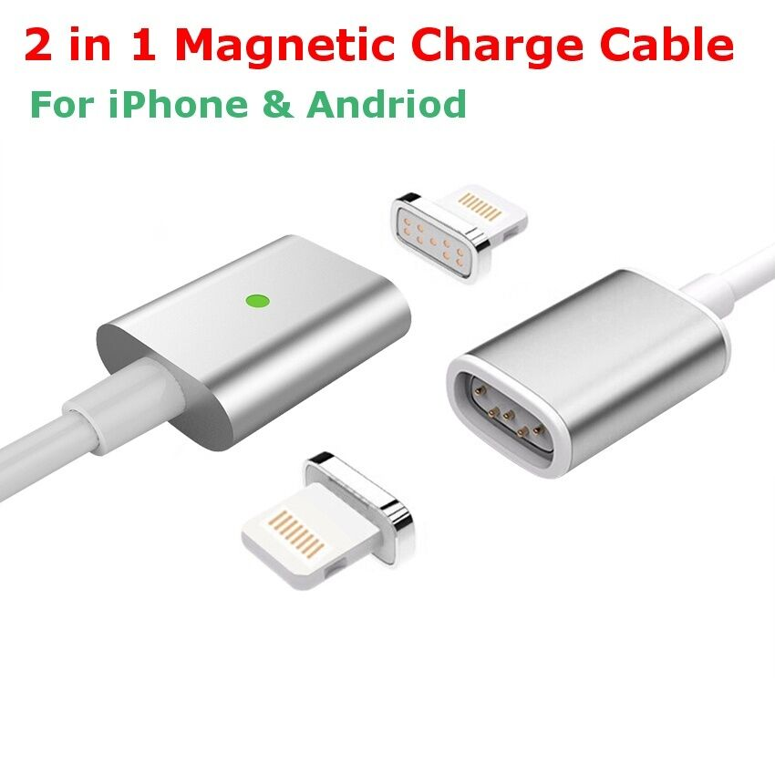 magnetic usb charger charging cable for apple iphone. Black Bedroom Furniture Sets. Home Design Ideas