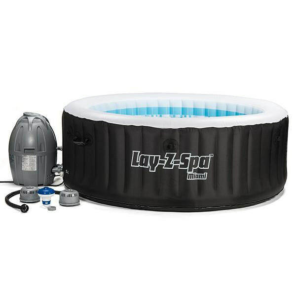 miami inflatable portable hot tub 54124 4 person lay z. Black Bedroom Furniture Sets. Home Design Ideas
