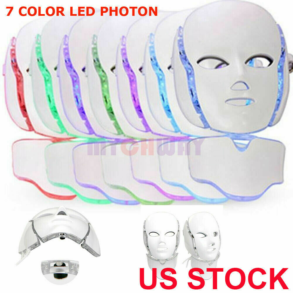 Led Photon Therapy Facial Mask Beauty Skin Care Neck Mask