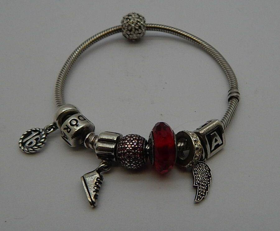 Authentic Pandora Bracelet 8 Charms 6 Are 925 Marked