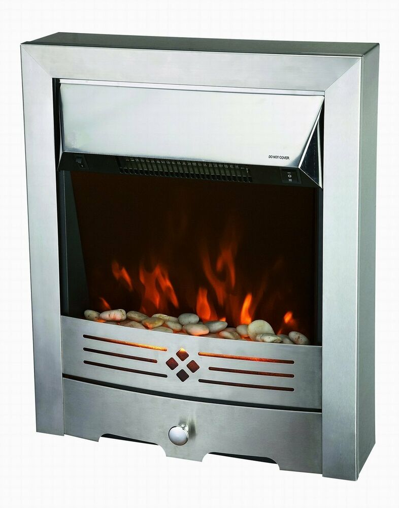 2kw modern electric fire led flame insert fireplace room heater freestanding ebay - Contemporary electric fireplace insert accessories ...