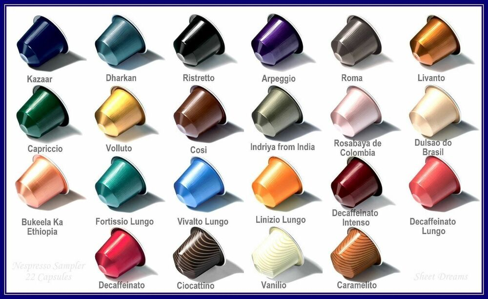 100 nespresso capsules per sleeve you pick 39 n 39 mix any 28. Black Bedroom Furniture Sets. Home Design Ideas