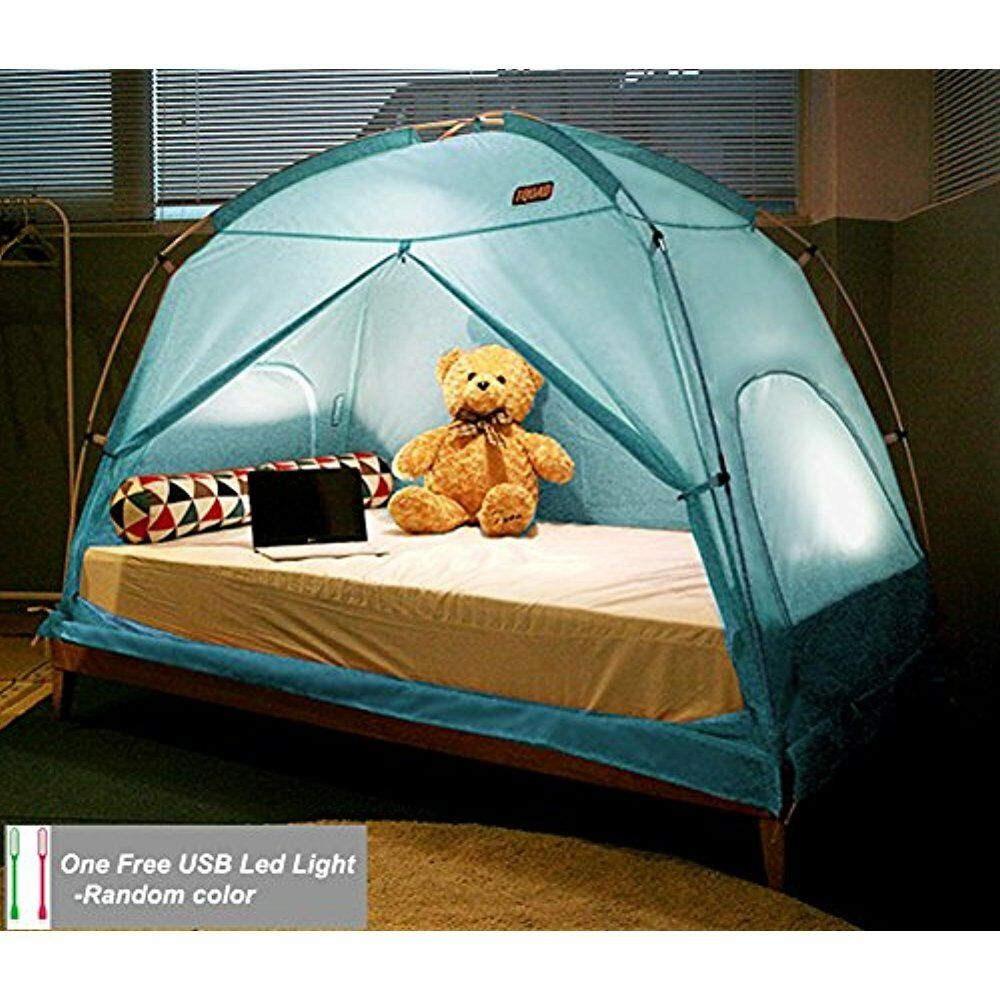 TQUAD Floorless Indoor Privacy Tent On Bed For Insulation