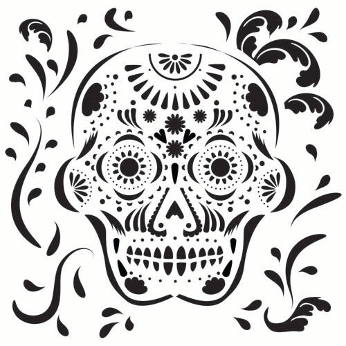 Details About Sugar Skull Stencil Template Scroll Templates Craft Pattern Stencils New By Tcw
