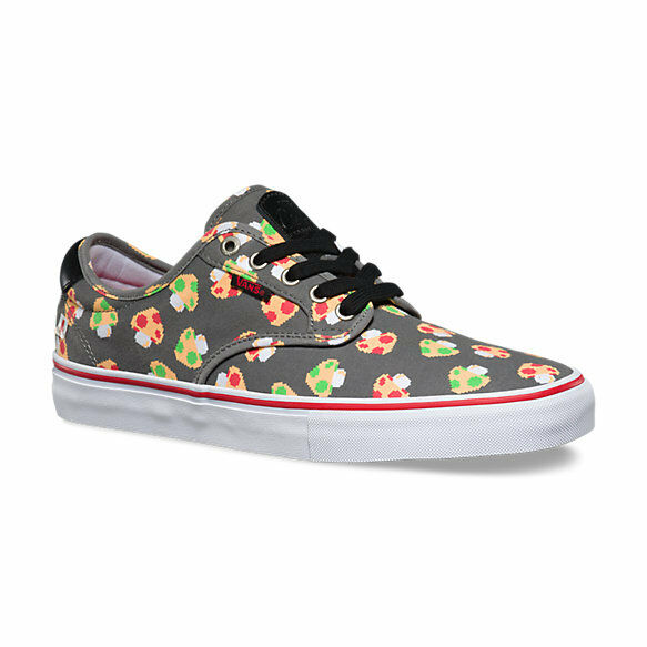 59997f871da Details about VANS x NINTENDO Mens Shoes (NEW) Chima Ferguson Pro GREY  MUSHROOMS Free Shipping