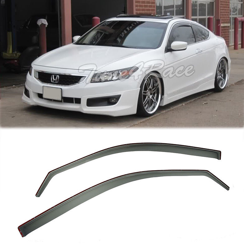 For 08 12 Honda Accord In Channel Side Window Visors Rain