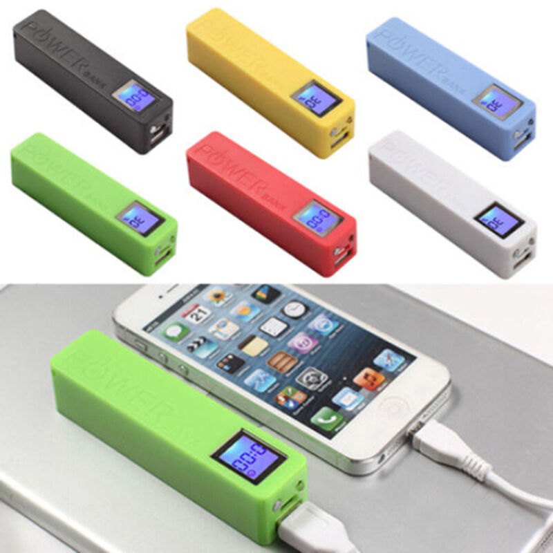 Lcd power bank backup external battery charger box for