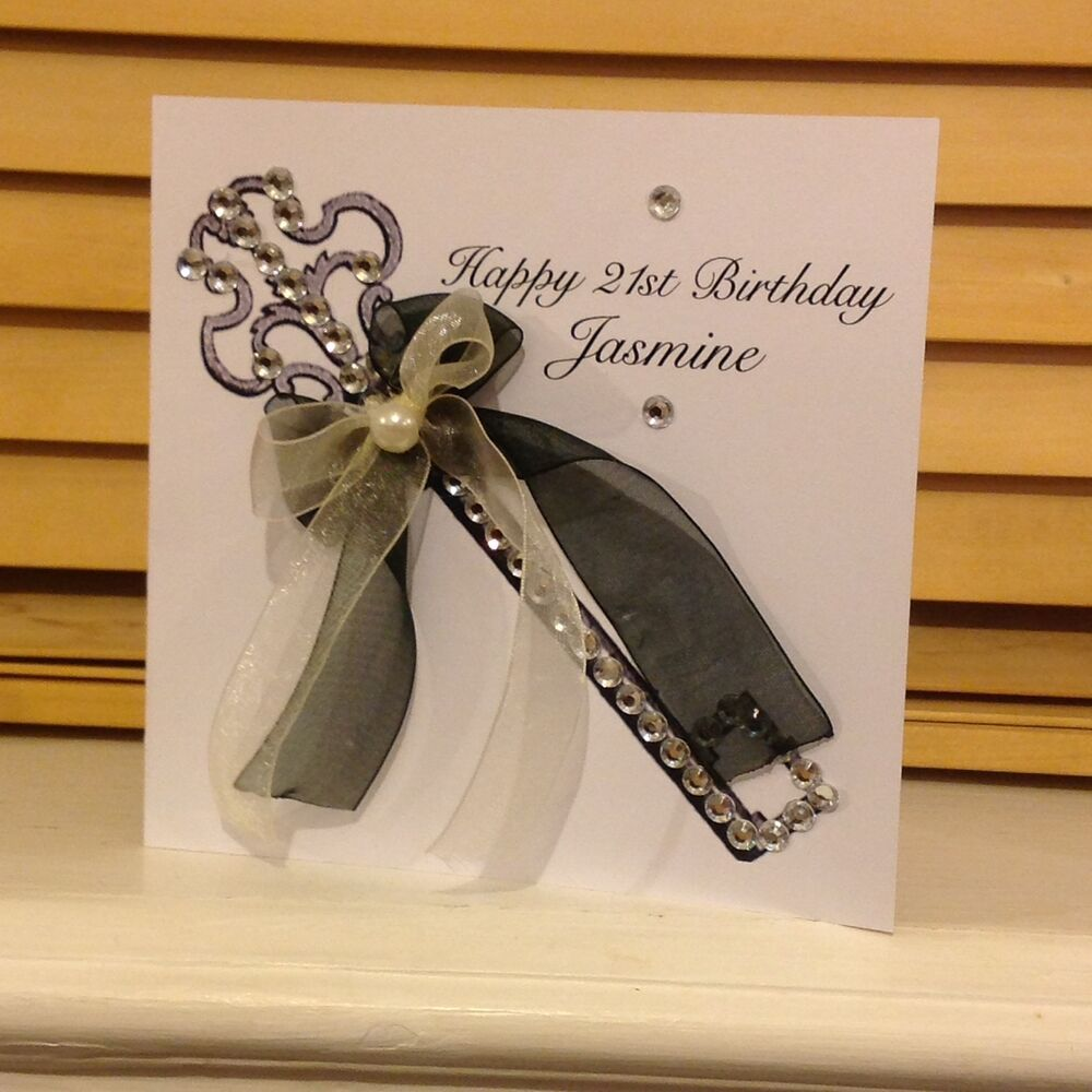 Personalised handmade 16th 18th 21st birthday card with for 18th key of the door