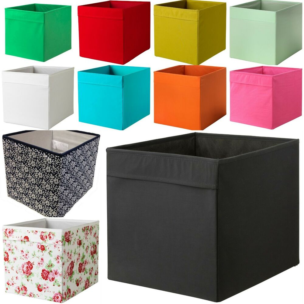 new ikea drona fabric storage box basket for expedit kallax shelf unit bookcase ebay. Black Bedroom Furniture Sets. Home Design Ideas