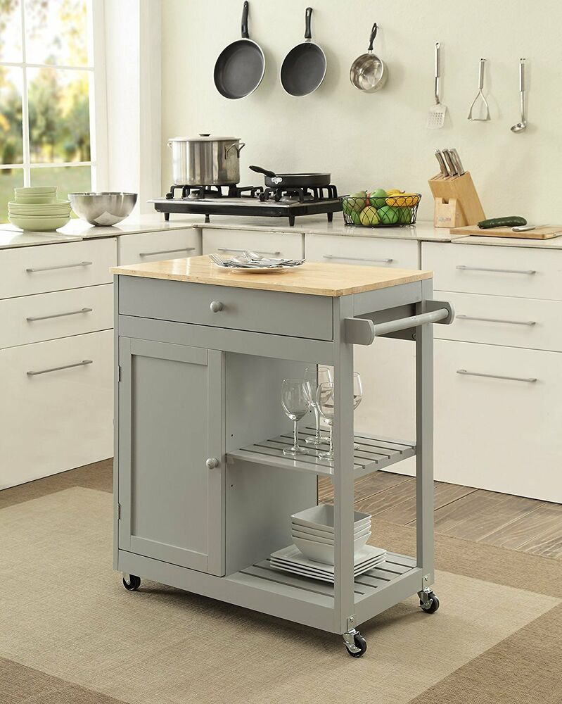 kitchen island with wheels kitchen island on wheels mobile dining room storage butcher block shelves ebay 4809