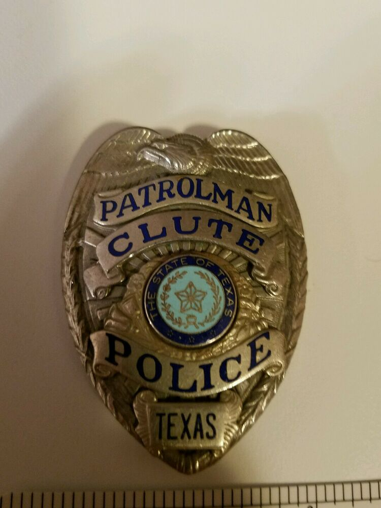 Antique Clute, Texas Police Badge