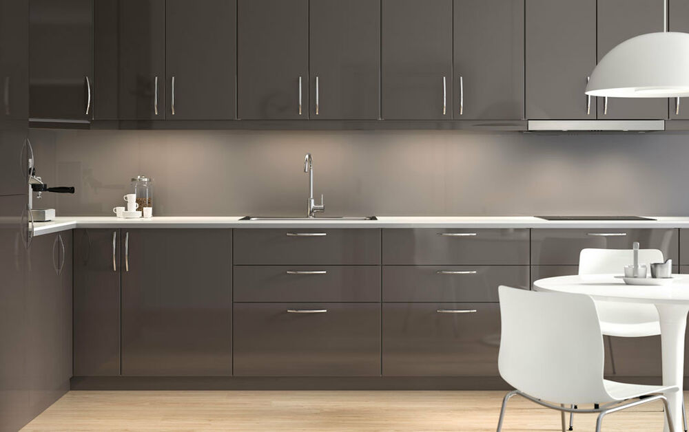 High Gloss Grey Cabinets Ikea: Ikea Ringhult Gloss Grey Kitchen Cabinet Doors And Drawer