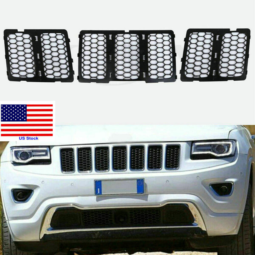 For 2014 2015 2016 Jeep Grand Cherokee Black ABS Front ...