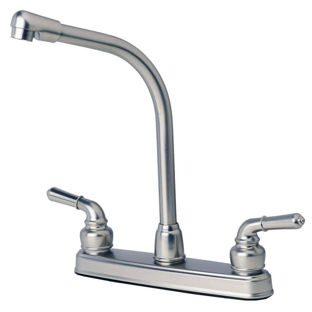 mobile home kitchen sink plumbing rv mobile home classic high rise swivel kitchen faucet 9186