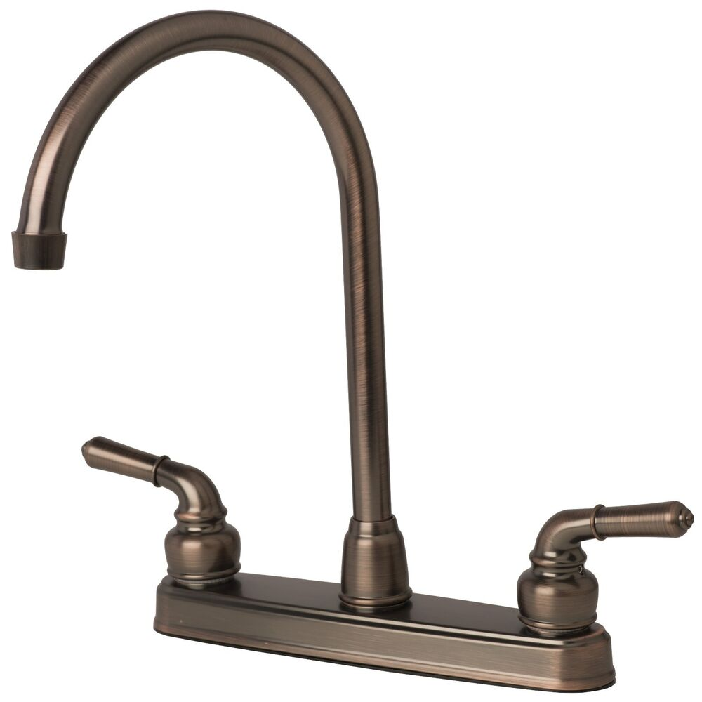 rv/mobile home classic high arc swivel kitchen faucet